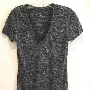 Adidas gray climatelite v-neck tshirt XS